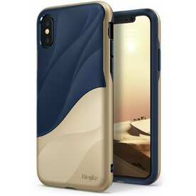 Husa Ringke iPhone X Wave Marina Gold