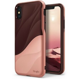 Husa Ringke iPhone X Wave Rose Blush