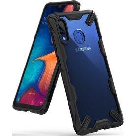 Husa Samsung Galaxy A20 Ringke FUSION X Transparent/Negru