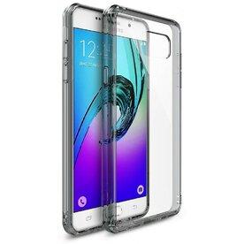 Husa Samsung Galaxy A3 2016 Ringke FUSION SMOKE BLACK + BONUS folie protectie display Ringke