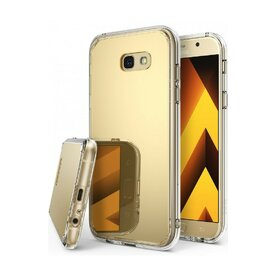 Husa Samsung Galaxy A7 2017 Ringke MIRROR ROYAL GOLD + BONUS folie protectie display Ringke