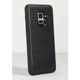 Husa Samsung Galaxy A8 2018 Ringke Onyx Black + BONUS folie protectie display Ringke