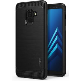 Husa Samsung Galaxy A8 Plus 2018 Ringke Onyx Black + BONUS folie protectie display Ringke