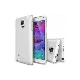 Husa Samsung Galaxy Note 4 Ringke SLIM WHITE + BONUS folie protectie display Ringke