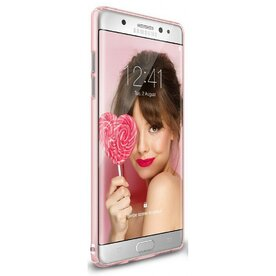 Husa Samsung Galaxy Note 7 Fan Edition Ringke Slim FROST PINK + Bonus folie Ringke Invisible Screen Defender