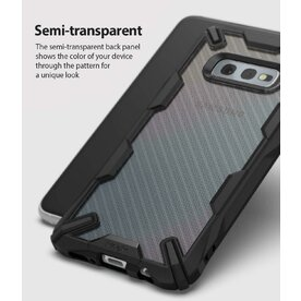 Husa Samsung Galaxy S10e Ringke FUSION X Design Carbon Fiber Negru