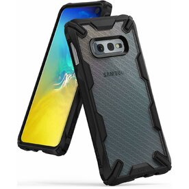 Husa Samsung Galaxy S10 Lite Ringke FUSION X Design Carbon Fiber Negru