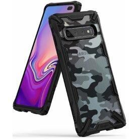 Husa Samsung Galaxy S10 Plus Ringke FUSION X Design Negru Camuflaj