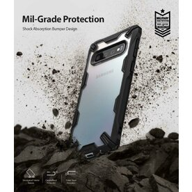 Husa Samsung Galaxy S10 Plus Ringke FUSION X Transparent/Negru