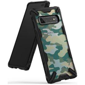 Husa Samsung Galaxy S10 Plus Ringke FUSION X Design Verde Camuflaj