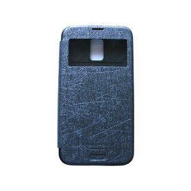 Husa Samsung Galaxy S5 Arium Bumper Flip View gri - albastru