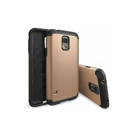 Husa Samsung Galaxy S5 Ringke ARMOR DOT COPPER GOLD+BONUS folie protectie display Ringke