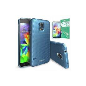 Husa Samsung Galaxy S5 Ringke SLIM Dot Electric Blue+BONUS folie protectie display Ringke