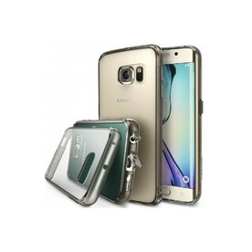 Husa Samsung Galaxy S6 Edge Ringke FUSION  SMOKE BLACK+BONUS folie protectie display Ringke