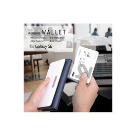 Husa Samsung Galaxy S6 Edge Ringke WALLET ALB ALBASTRU