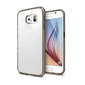 Husa Samsung Galaxy S6 Ringke FUSION SMOKE BLACK+BONUS folie protectie display Ringke