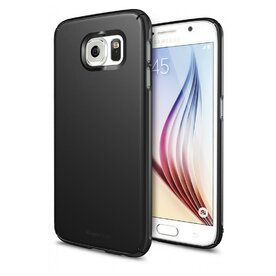 Husa Samsung Galaxy S6 Ringke SLIM SF BLACK+BONUS folie protectie display Ringke