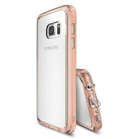 Husa Samsung Galaxy S7 Ringke FUSION ROSE GOLD + BONUS folie protectie display