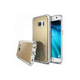 Husa Samsung Galaxy S7 Ringke MIRROR ROYAL GOLD + BONUS folie protectie display Ringke