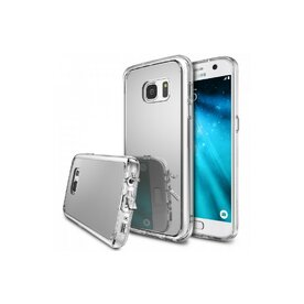 Husa Samsung Galaxy S7 Ringke MIRROR SILVER + BONUS folie protectie display Ringke