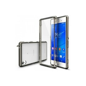 Husa Sony Xperia Z3 Ringke FUSION SMOKE BLACK+BONUS folie protectie display Ringke