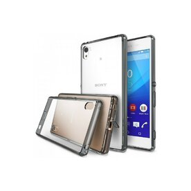 Husa Sony Xperia Z4 Ringke FUSION SMOKE BLACK TRANSPARENT+BONUS set 2 folii protectie