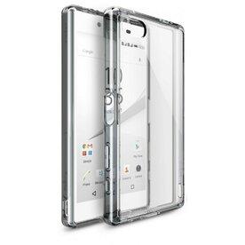 Husa Sony Xperia Z5 Compact Ringke FUSION SMOKE BLACK + BONUS folie protectie display