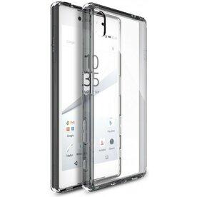Husa Sony Xperia Z5 Ringke FUSION SMOKE BLACK + BONUS folie protectie display