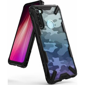 Husa Xiaomi Redmi Note 8 Ringke FUSION X Design Negru Camuflaj