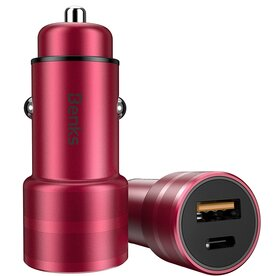 Incarcator auto Benks Fast Charge C28 cu USB-C si USB
