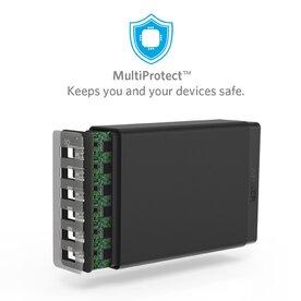 Incarcator de retea Anker 60W cu 6 porturi USB PowerIQ