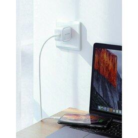 Incarcator retea RavPower GaN 30W USB-C Power Delivery, Alb