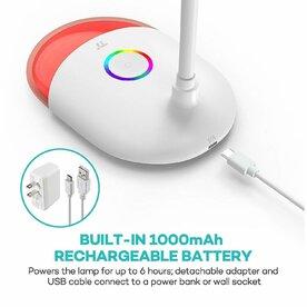 Lampa Birou LED TaoTronics TT-DL070 Multicolor RGB 7W, Flexibila, cu control tactil, Alb