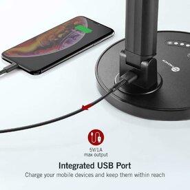 Lampa de birou cu LED TaoTronics Elune E5 TT- DL13 cu port incarcare USB si protectie pentru ochi