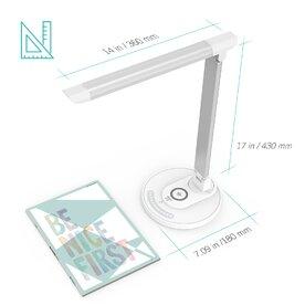 Lampa de birou cu LED TaoTronics TT-DL036 cu incarcator wireless, Argintiu