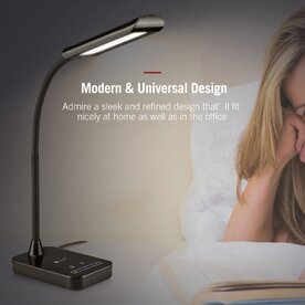 Lampa de birou LED TaoTronics TT-DL11, Control Touch, protectie ochi, 7W, Negru
