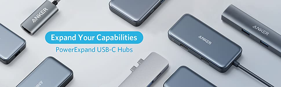 Media Hub Anker USB-C, PowerDelivery, microSD, SD, USB