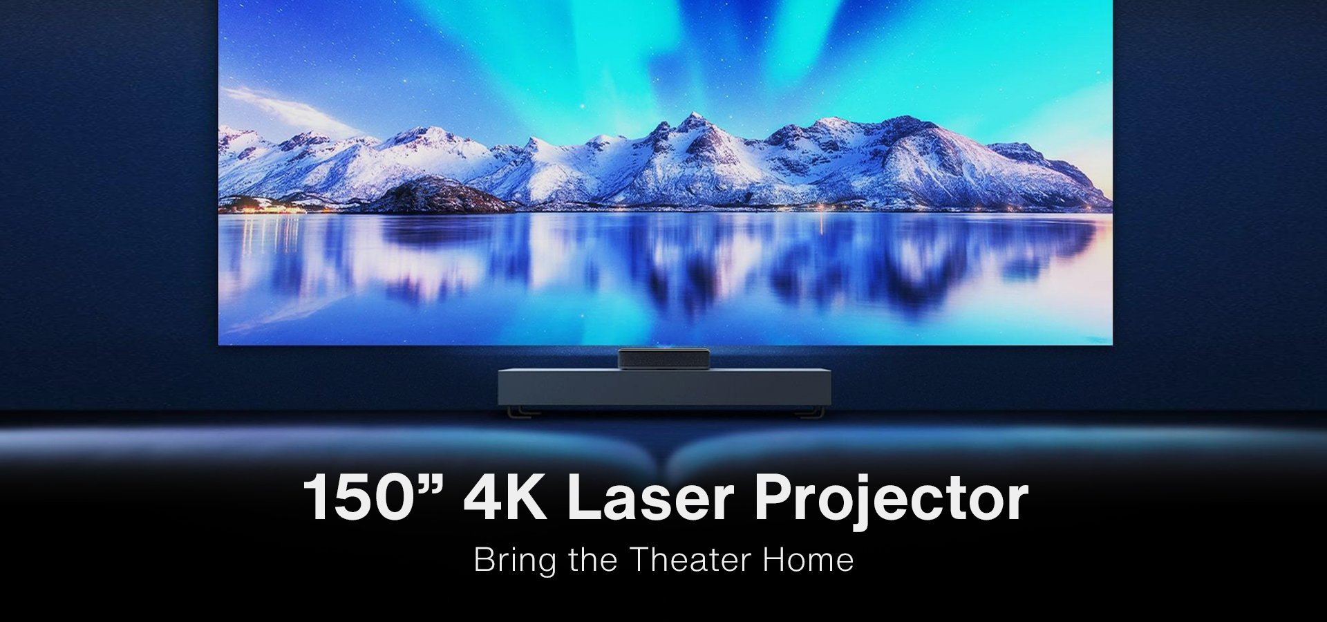 Proiector video premium laser Vava Ultra Short Throw Sunet Harman Kardon