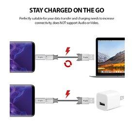 Set 2x Adaptor Ringke microUSB - USB-C Gri