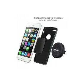 Suport auto pentru telefoane magnetic universal Mpow Grip Magic Air Vent