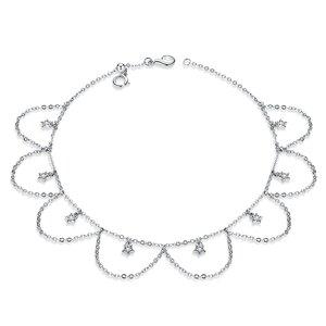 Bratara de glezna din argint Stars Chain