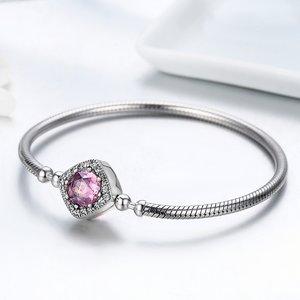 Bratara din argint 925 cu Cristal Roz