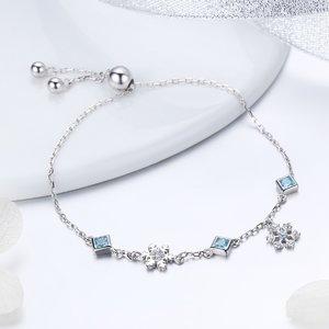 Bratara din argint 925 Winter Snowflake