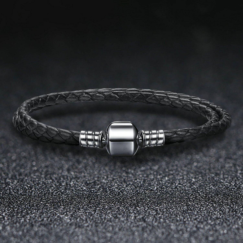 bratara din argint black leather 88057 4
