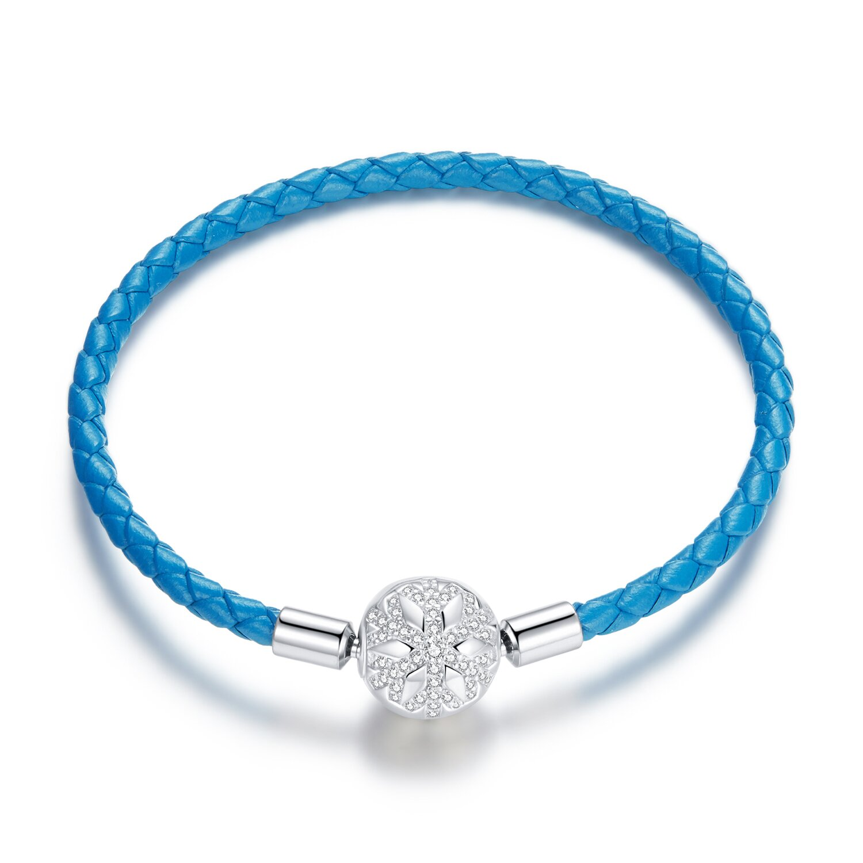 bratara din argint blue leather snowflake 86272 4