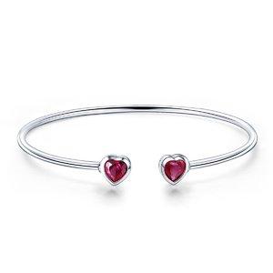 Bratara din argint Bratara din argint Double Red Heart
