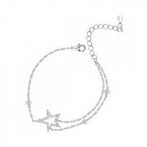 Bratara din argint cu Stea si Cristale Transparente