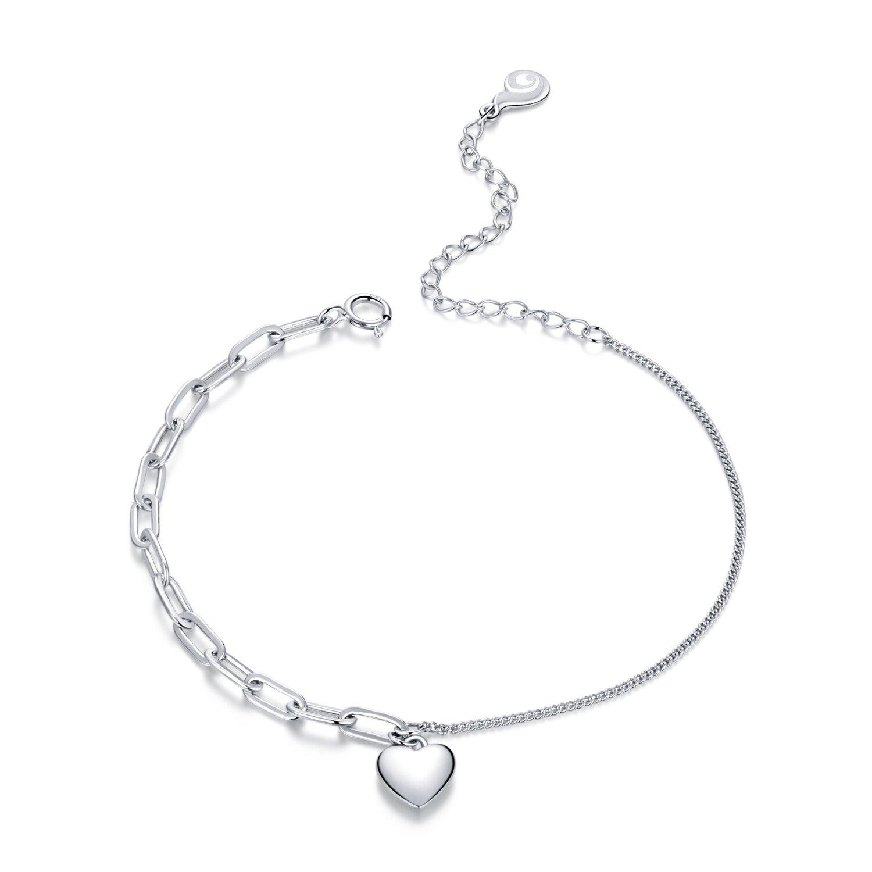 bratara din argint double chain heart 85693 4