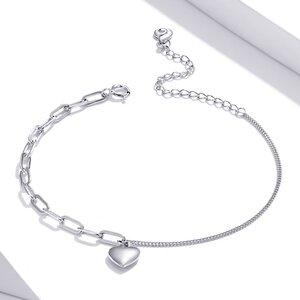 Bratara din argint Double Chain Heart