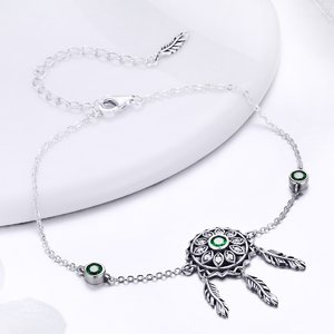 Bratara din argint Dream Catcher green